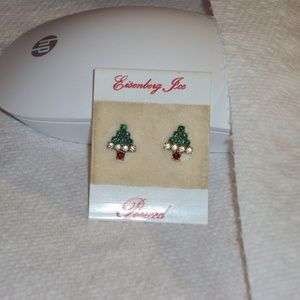 Vintage Eisenberg Ice Christmas Tree Earrings